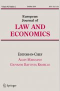 "Camille Signoretto dans ""European Journal of Law and Economics"" d'octobre 2019"